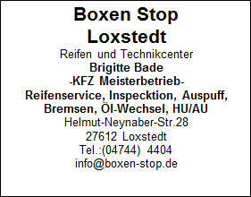 Boxen Stop Loxstedt